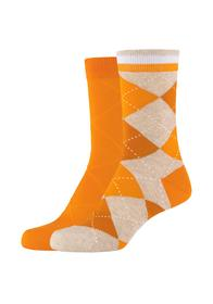 Women comfort argyle Socks 2p
