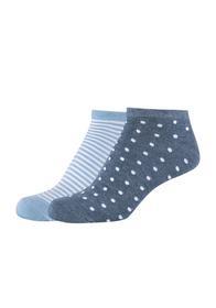 Women silky feeling Sneakers 2p - 5500/denim melan