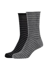 Women silky feeling stripes Socks 2p