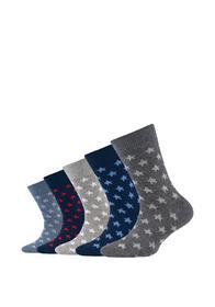Children ca-soft organic stars/stripes Socks 5p