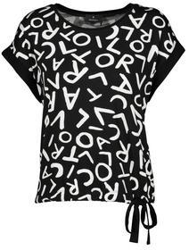 Shirt schwarz gemustert