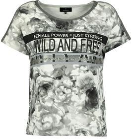 Shirt taupe gemustert