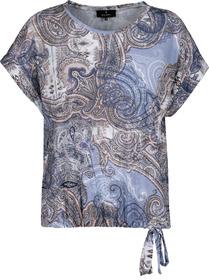 Shirt, indigo gemustert