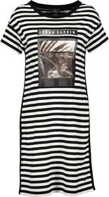 Kleid schwarz Ringel
