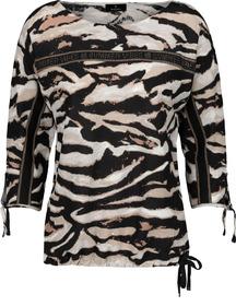 Pullover, schwarz gemustert