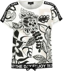 Shirt off-white gemustert