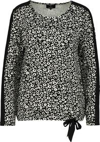 Shirt, schwarz gemustert