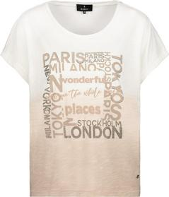 Shirt, sandstone gemustert