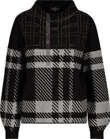 Pullover schwarz gemustert