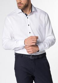 ETERNA LANGARM HEMD MODERN FIT PINPOINT WEISS UNIFARBEN