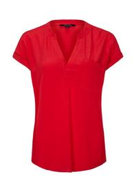 BLUSE KURZARM, flamed red