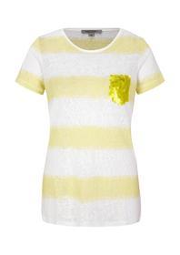 T-SHIRT KURZARM - 11G1/yellow stripes
