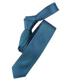 Venti Krawatte Einheitsgröße - Aqua - kariert - 100% Seide