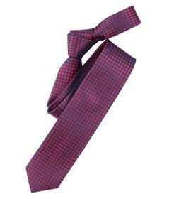 Venti Krawatte Einheitsgröße - Rosarot - kariert - 100% Seide