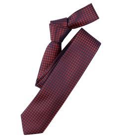 Venti Krawatte Einheitsgröße - Orange - kariert - 100% Seide
