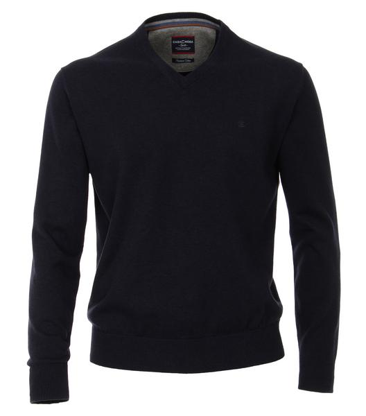 CasaModa Pullover V-Ausschnitt uni