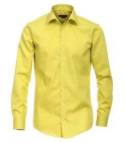 Venti Hemd Slim Fit Größe 35 - Gelb - 100% Baumwolle