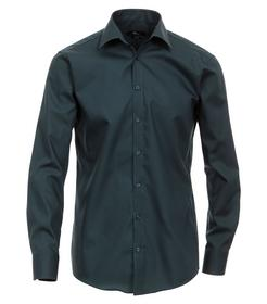 Venti Hemd Slim Fit Größe 46 - Dunkelgrün - 100% Baumwolle