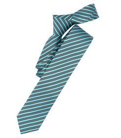 Venti Krawatte Einheitsgröße - Türkis - gestreift - 100% Seide