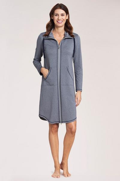 Robe, 1/1 sleeve, zipper, pockets