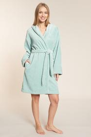 Robe, 1/1 sleeve, wrap-around, pock