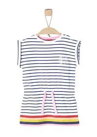 KLEID KURZ, white stripes