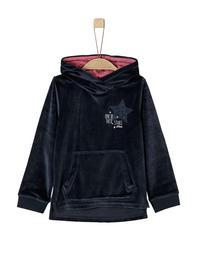 Velours-Sweatshirt