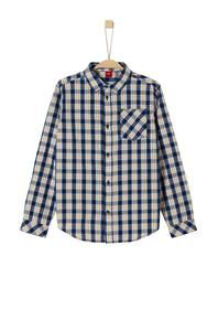 HEMD LANGARM - 58N3/dark blue check