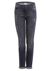 Jeans-Hosen, grey denim