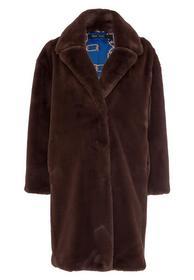 Mantel in Teddy-Optik