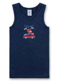 Shirt w/o sleeves w.print - 5193/cosmos