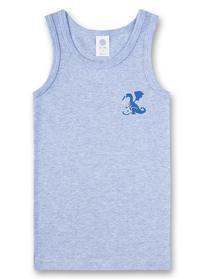 Shirt w/o sleeves w.print - 50252/oxford mel
