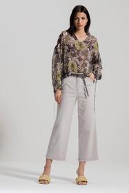 Bluse mit Flower-Print, white