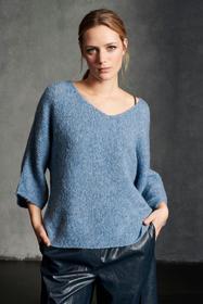 Cape-Pullover aus Woll-Mix, greyisch blue