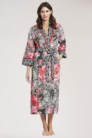 Robe, 1/1 sleeve, wrap-around, line