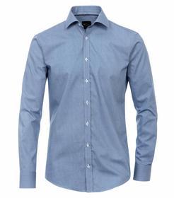 Venti Hemd Slim Fit Größe 38 - Blau - mit modischem Druck - 100% Baumwolle