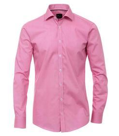 Venti Hemd Slim Fit Größe 43 - Magenta - mit modischem Druck - 100% Baumwolle