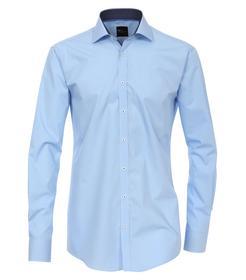 Venti Hemd Slim Fit Größe 38 - Hellblau - mit modischem Druck - 100% Baumwolle