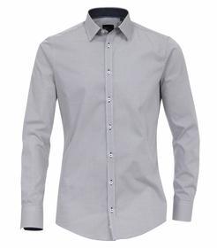 Venti Hemd Slim Fit Größe 38 - mittleres Dunkelblau - mit modischem Druck - 100% Baumwolle
