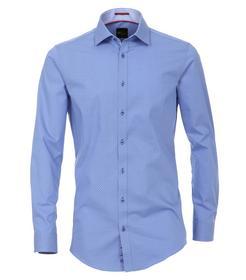 Venti Hemd Body Fit Größe 40 - Blau - mit modischem Druck - 100% Baumwolle