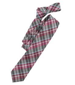 Venti Krawatte Einheitsgröße - Dunkelrot - kariert