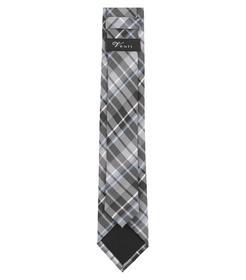 Venti Krawatte Einheitsgröße - Grauschwarz - kariert