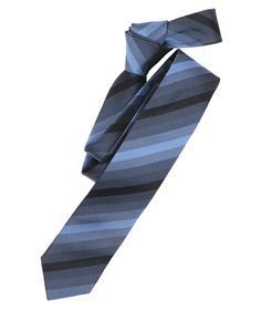Venti Krawatte Einheitsgröße - Blau - gestreift - 100% Seide
