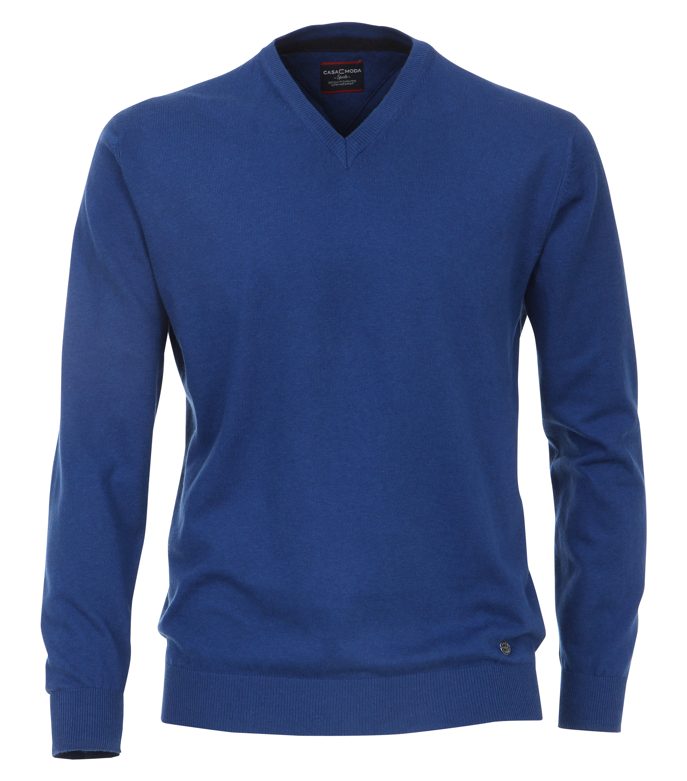 Pullover mit V-Ausschnitt unifarben