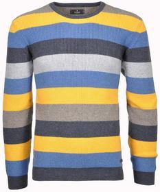 Pullover round neck striped