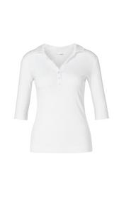Poloshirt mit Mini-Rüsche