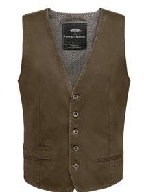 Waistcoat, Cotton Structure - 854/taupe