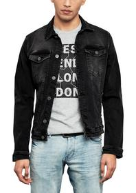 JACKE, grey/black denim