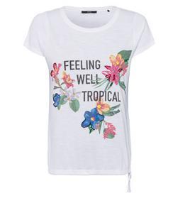 T-Shirt mit Aufdruck und Stickereien