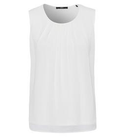 Shirtblouse Merle Pleats Rd-Nk 0/0, offwhite